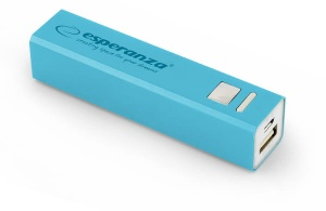 Esperanza power bank 2400mah erg niebieski