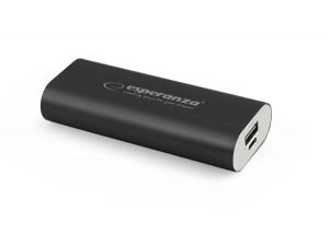Esperanza power bank 4400mah hadron czarny