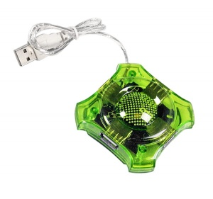 Esperanza USB 2.0 hub 4 porty star zielony