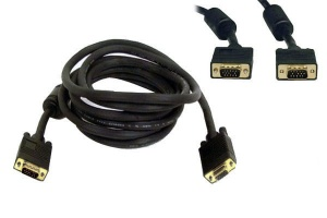 Kabel  D-SUB VGA SVGA FULL HD 2M gold