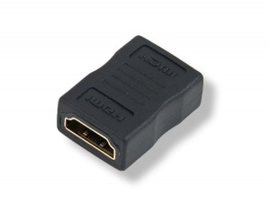 Adapter HDMI female to female gold