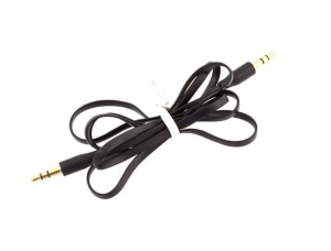 Kabel płaski JACK 3,5mm 1M black