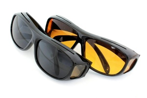 Okulary HD vision black + yellow