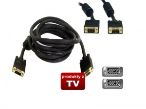 Kabel D-SUB FULL HD VGA SVGA 3M Gold
