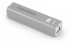 Esperanza power bank 2400MAH ERG srebrny